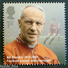 """""""Bill Shankly"""" illustrated on 2013 Stamp - U/M"""