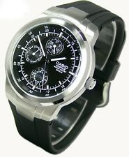 EF-305-1A Black Casio Edifice ANALOG Watch 100M Watch Resin band Day Date New