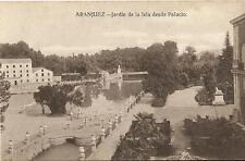 Tarjeta Postal ARANJUEZ. Jardín de la Isla desde Palacio
