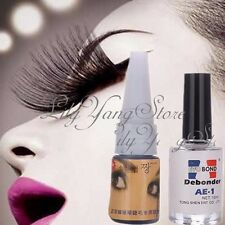 Individual False Eyelash Extensions Adhesive Glue + Remover Liquid Debonder Set