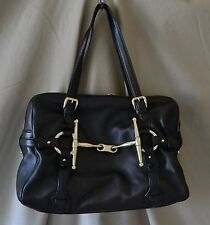 Gucci 85th Anniversary Black Shoulder Bag w/Lg Gold Tone Horse Bit - Used Once!