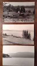 CONNECTICUT LAKES Pittsburg NH 3 Real Photo Postcards 1st 2nd & 3rd Conn. Lakes