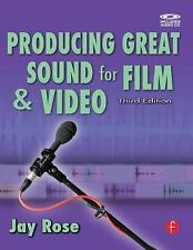 Producing Great Sound for Film and Video by Jay Rose (2008, Paperback) NEW!