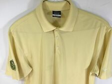 NWOT NIKE GOLF DRY-FIT GOLF POLO SHORT SLEEVE SHIRT, POLY, YELLOW, Sz L