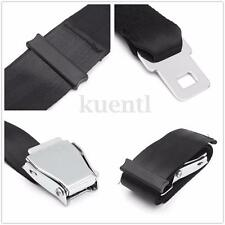 70cm Adjustable Black Airplane Seat Belt Extension Extender Buckle Belt Extended