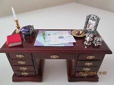 Dolls House 9 Drawer Desk with Accessories.
