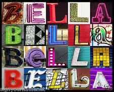 BELLA Name Poster -photos of sign letters - personalized