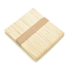 50/100Pcs Wooden Popsicle Sticks for Party Kids DIY Crafts Ice Cream Pop