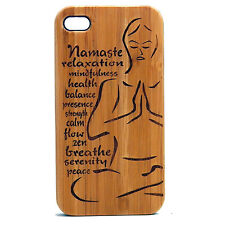 Yoga Namaste Case for iPhone 6 6S Bamboo Wood Phone Cove Pose Instructor Gift