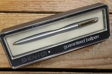 Sheaffer Imperial 444X Ballpoint Pen In Brushed Steel & GT - C1970's