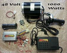 Scooter 48 volt 1000 watt motor, controller and throttle kit-complete