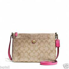 Coach F51065 Pomegranate Peyton East West Signature Fabric Swingpack Bag Jeptall