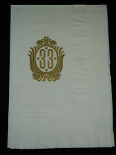 Disneyland Club 33 Vintage Napkin Exclusive 90* Edge Printing New Orleans