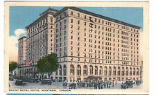 1942 postcard- Mount Royal Hotel, Montreal, Canada