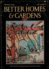 Better Homes & Gardens Magazine August 1930  FLOOR PLANS