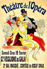 Théâtre de lOpéra  Gd Veglione de Gala  3e Bal Masqué Show  Deco  Poster Print