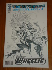 TRANSFORMERS SPOTLIGHT WHEELIE RI SKETCH COVER 2008 IDW KLAUS SCHERWINSKI