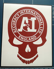 GUN STICKER : `ACCURACY INTERNATIONAL` SNIPER RIFLES SKULL MAGNETIC SIGN