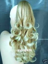Forever Young REVERSIBLE Ash and Light Blonde Clip In Pony Tail Hair Extension