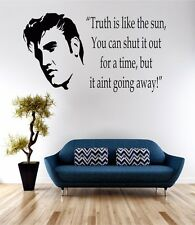 Elvis Presley Truth Wall Art Sticker Quote Decal Vinyl Transfer