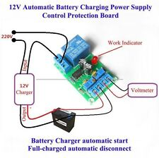 12V Battery Automatic Charging Controller Module Protection Board Relay Batterie