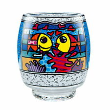 "ROMERO BRITTO - POP ART aus Miami ""DEEPLY IN LOVE"" Glas Windlicht Teelicht NEU !"
