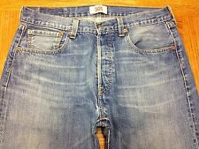 LEVIS 501 BUTTON FLY VINTAGE JEANS HEMMED TO SZ 33 x 30 Tag 33 x 36 EUC BEST U32