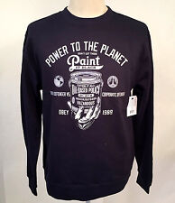 Obey Men's Crew Sweatshirt Paint it Black Navy Size M NEW Shepard Fairey