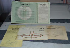 VTG Mercury For 1959 Owners Manual Ford Motor Co  Form MD-3691-59 N