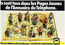 PUBLICITE ADVERTISING 054 1979  LES PAGES JAUNES ANNUAIRE PTT ( 2 pages)