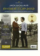 JACK NICKLAUS GUIDE TO THE RYDER CUP 2012 ,   SEPTEMBER, 25th -- 30th  2012