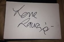 LAUREN GOODYER SIGNED 6X4 WHITE CARD DANCING ON ICE & THE ONLY WAY IS ESSEX