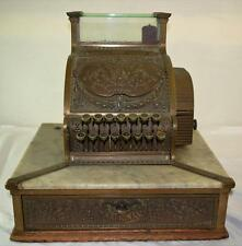 Antique National Brass Cash Register Ohio Model 52 1/4 #S46747