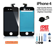 NEW LCD & Digitiser Touch Screen Replacement with Free Tools FOR BLACK iPhone 4