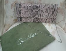 Carlos Falchi Snakeskin Clutch Python Bag in Pink Tonal - Never Used with DC