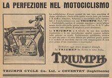 Y7836 Moto TRIUMPH Modello R - Pubblicità d'epoca - 1926 Old advertising