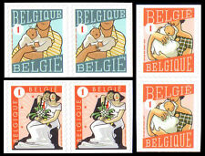 Belgium**GIRL & BOY BIRTH+MARRIAGE ANNOUNCEMENTS-3 BLOCKS@2vals-2007-MNH