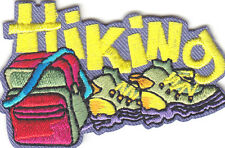 """HIKING"" PATCH- Iron On Embroidered Applique Patch- Sports, Hiker,Outdoors"