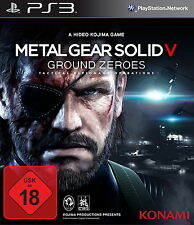 SONY PS3 Metal Gear Solid V: Ground Zeroes PlayStation 3 Kult Spiel Pre Game OVP