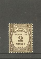 """FRANCE STAMP TIMBRE TAXE N° 62 """" 2F SEPIA """" NEUF xx SUP"""