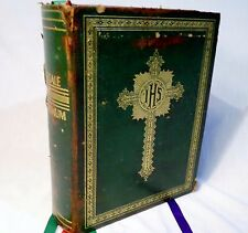 Missale Romanum 1943 4th Magus Green Cover Religious w Ribbons Bible Old Book