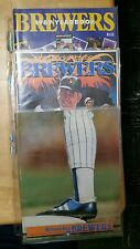 MILWAUKEE BREWERS YEARBOOK AND POSTER LOT
