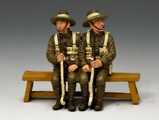 King & Country Soldiers WWI Sitting Anzacs Set 1 Queensland 1/30 Scale GA010-Q