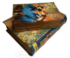 Edgar Degas Blue Dancers Book Box Set Hidden Storage  Secret Book Boxes