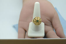 Unrestored Vintage Arte Orfebre Peruvian Gold Ring Hand Made & Beautiful