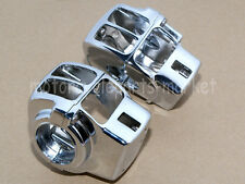 Chrome Switch Housings For Harley Electra Glide FLHT Classic Street Glide FLHX