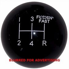 Black F ing Fast Mustang 5 Speed shift knob M12x1.75 thread U.S MADE