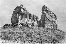 IRAN (KHOUZISTAN) - RUINE d'un IWAN près de SUSE (ARC-DOUBLEAU) - Gravure du 19e