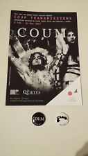 Coum Transmissions Exhibition Flyer & Badges -Cosi Fanni Tutti Genesis P Orridge