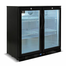 Double Door Under Bench Display Bar Cooler Beer fridge Bar Fridge LG Compressor